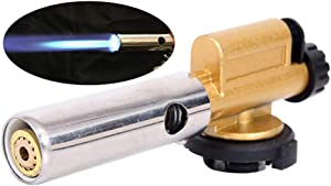 Butane Torch Kitchen Blow Torch Cooking Torch Lighter efillable Food Blow Torch Adjustable Flame for Creme Brulee and To Perfectly Sear Steak, Fish - Kitchen Lighter Tool for Cooking (21x9x5 cm)