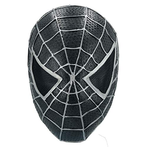 (Superhero Spiderman Miles Morales Mask, Into The Spider-Verse Cosplay Costume Decoration, Latex Material)