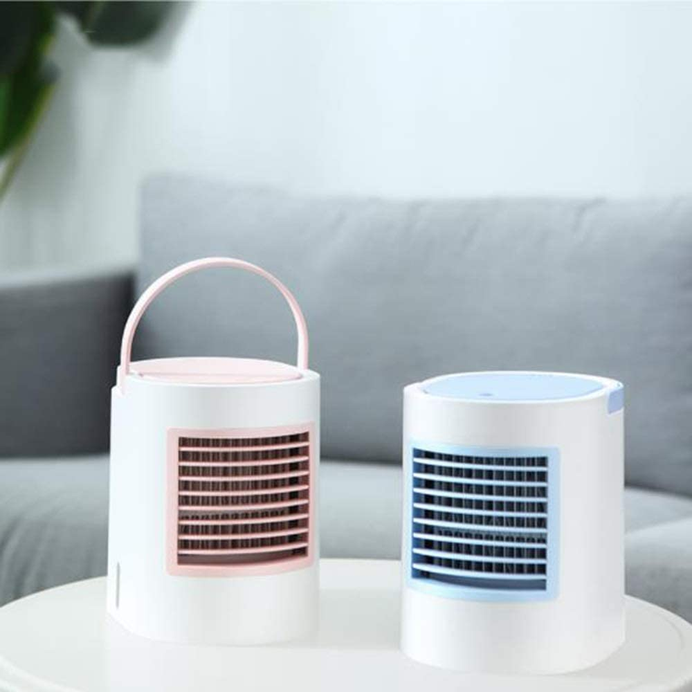 USB Silent Fan Small Air Conditioning Student Dormitory Bedside Table Silent Cooling Fan USB Three-Speed Wind Home Desktop Powerful Cooling LMMNFS Mini Table Fan USB Portable Desktop Fan