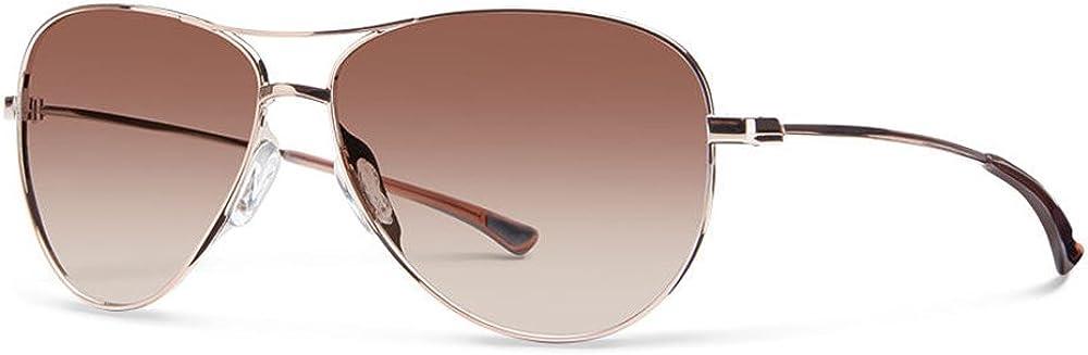 Smith Optics Langley Carbonic Polarized Sunglasses, Gold / Rose Gold Mirror, Smith Optics Langley Carbonic Sunglasses: Clothing