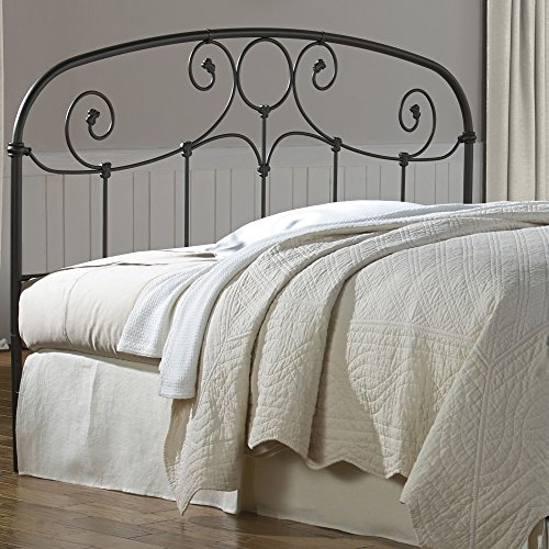 Grafton Metal Headboard with Scrollwork Design and Decorative Castings, Rusty Gold Finish, Queen by Fashion Bed Group (Image #2)