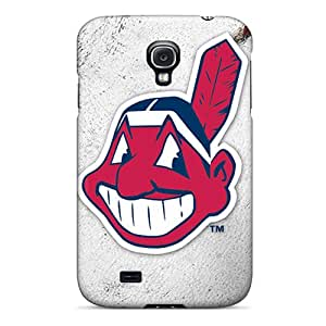 Scratch Protection Cell-phone Hard Covers For Samsung Galaxy S4 (wrh12037GKPk) Custom Fashion Cleveland Indians Pattern