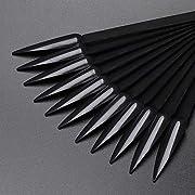 NMKL38 80pcs Stiletto Nail Swatches Sticks Fan-shaped Nail Art False Tips Color Card Gel Nail Polish Display Board…