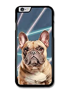 Accessories Cute French Bulldog With Laser Background case for iphone 6 4.7