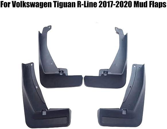 Mudguards Protective Fender For Vw Tiguan R-Line L-Phev 2017 2018 2019 2020 Front /& Rear Moulded Full Protection Set AILZNN Mud Flaps Splash Guards