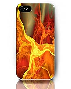 UKASE Mobil Phone Case for iPhone 5 5s with Amazing Designed Pattern of Fire Flames