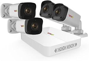 Revo America Ultra HD 4 Ch. 1TB HDD IP NVR Video Surveillance System, 4 x 1080p Bullet Security Cameras - Remote Access via Smart Phone, Tablet, PC & MAC