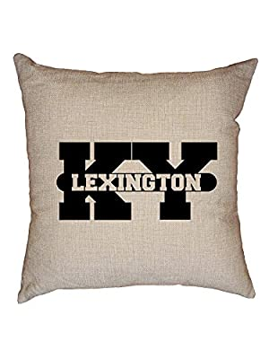 Hollywood Thread Lexington, Kentucky KY Classic City State Sign Decorative Linen Throw Cushion Pillow Case with Insert