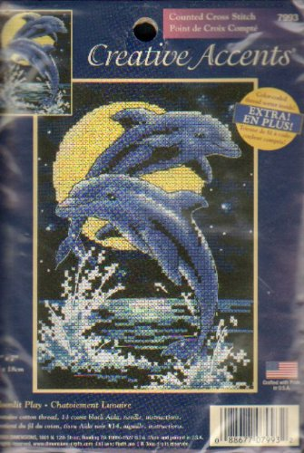 (Moonlit Play (Dolphins) Creative Accents - Counted Cross)