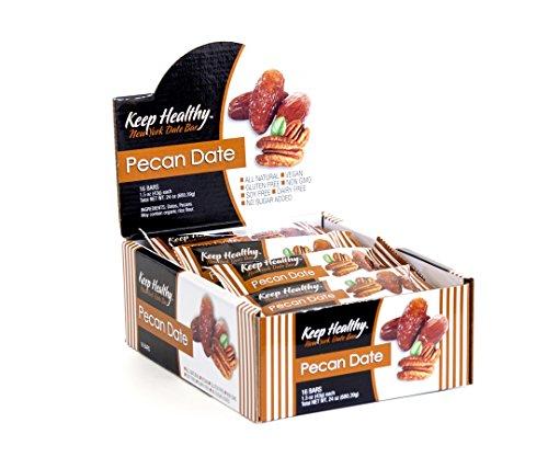 - Keep Healthy Date Fruit Bars, Pecan  Date, Healthy Snack Bar, NON-GMO, Vegan, Gluten Free, Kosher Certified  (Pack of 16) 24 Oz