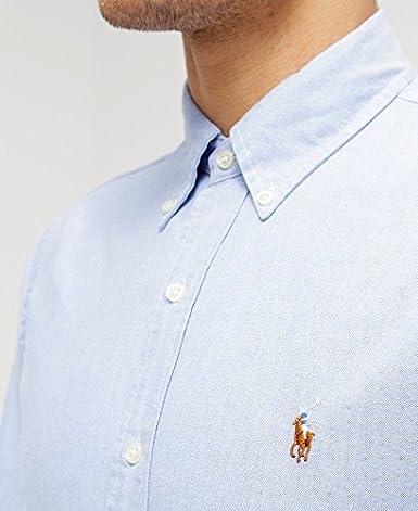 57b87c4afb4921 Polo Ralph Lauren Chemises Button Down Tessuto oxfod Classic Fit   Amazon.fr  Vêtements et accessoires