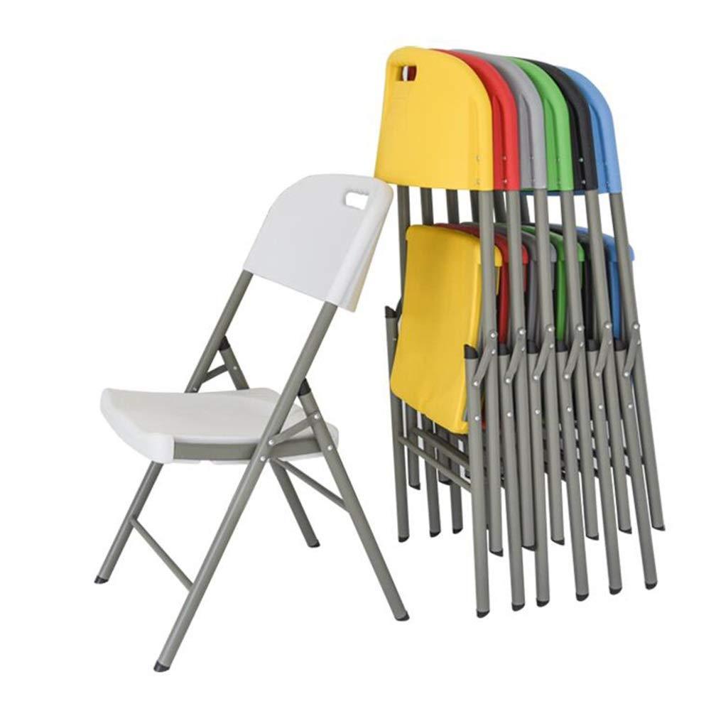 JIEER-C Fritid kontorsstol hopfällbar stol HDPE skrivbord vikbar enkel förvaring utomhus balkong terrass kontor camping kontorsstolar inomhus hållbar stark gRÖN