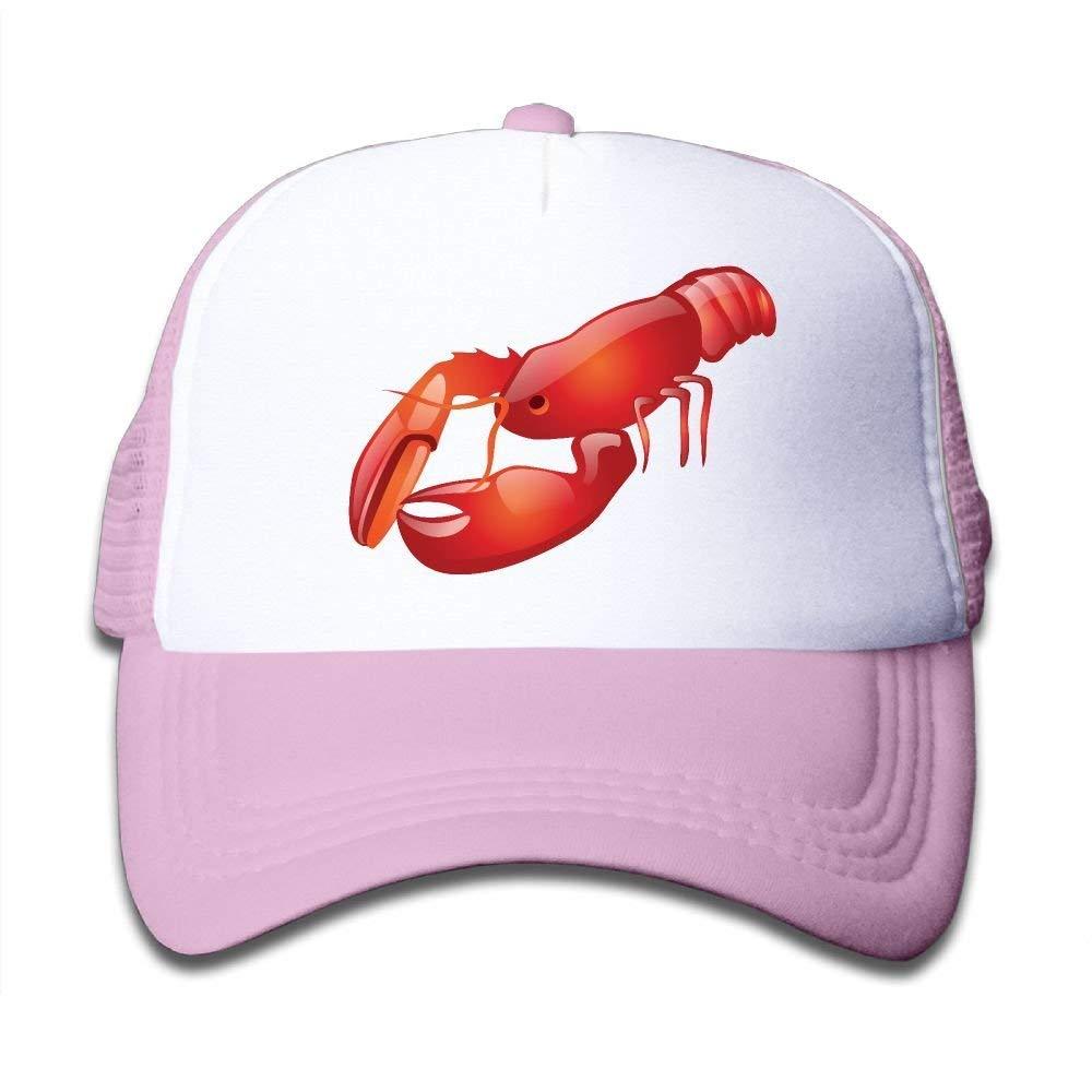 Mesh Baseball Caps Sun Hats Kids Cap 3D Crawfish Adjustable Boy Girl