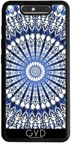 Funda Silicona para ZTE Blade V8 - Mandala Azul Geométrico Blanco by Nina Baydur