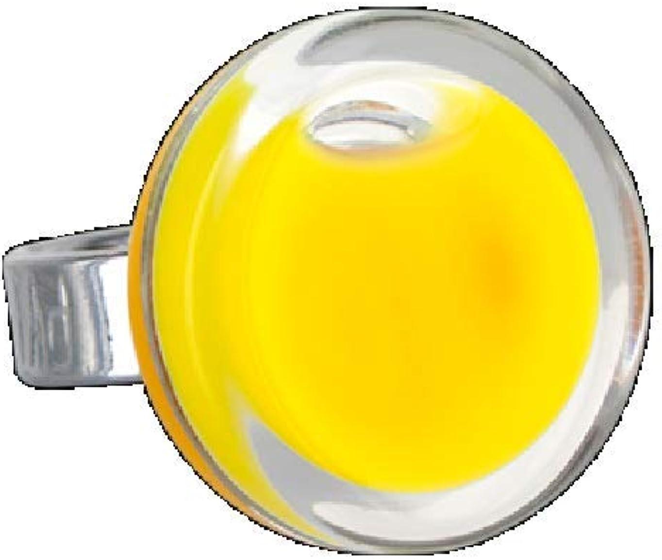 Pylones - Anillo de cristal con diseño de escudo Mini Milk, color amarillo