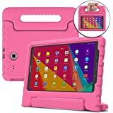 Cooper Dynamo [Rugged Kids CASE] Protective Case for Samsung Tab 3 Lite 7, Tab E Lite 7 | Child Proof Cover Stand, Handle | T110 T111 T113 T115 (Pink)