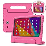 Samsung Galaxy Tab E Lite 7.0 case for kids, fits Tab 3 Lite 7.0 [SHOCK PROOF KIDS TAB LITE CASE] COOPER DYNAMO Kidproof Child Tab Lite 7 inch Cover for Girls Toddler, Kid Friendly Handle Stand (Pink)