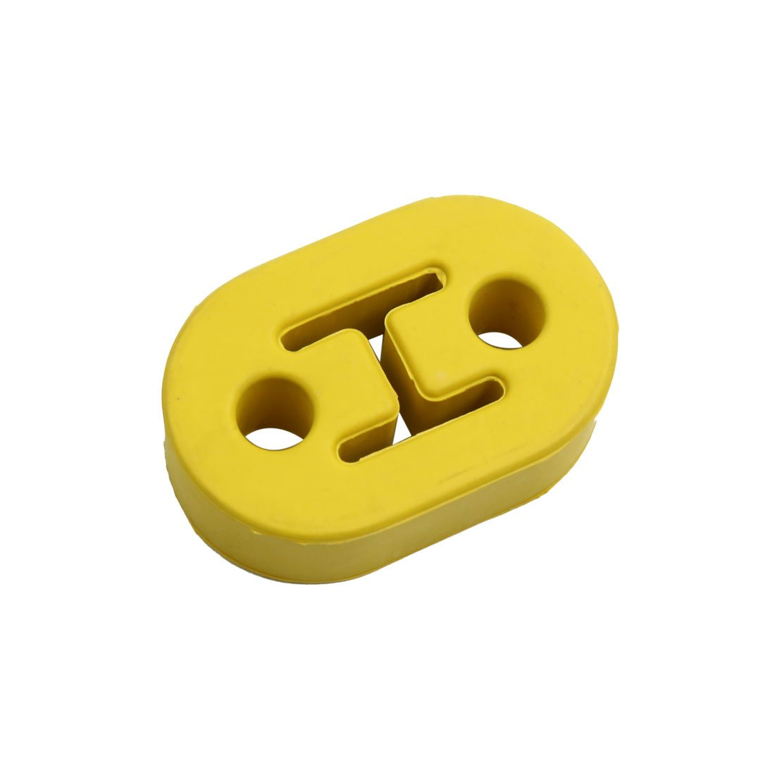 uxcell Universal Yellow Rubber Car Exhaust Pipe Tip Mount Hanger Bracket 12mm 2 Hole