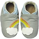 Rose & Chocolat Chaussures Bébé Rainbow Dream Gris