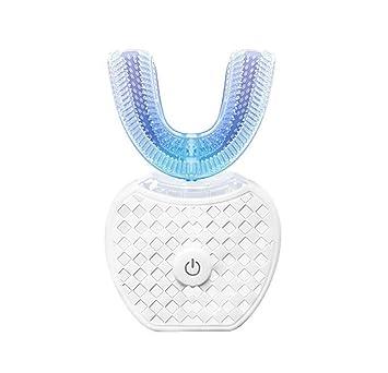 HW Cepillo de Dientes eléctrico ultrasónico eléctrico Inteligente para Adultos Cepillo de Dientes Perezoso Cepillo de Dientes automático, Limpieza de 360 ...