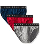 Boss Hugo Boss Real Cool 100% Cotton Mini Briefs - 3 Pack (0271772)