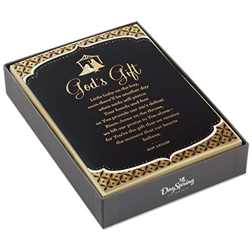 Cards Gift Scripture Boxed (HMK Christmas Boxed Cards - Christmas Dsp Gods Gift)