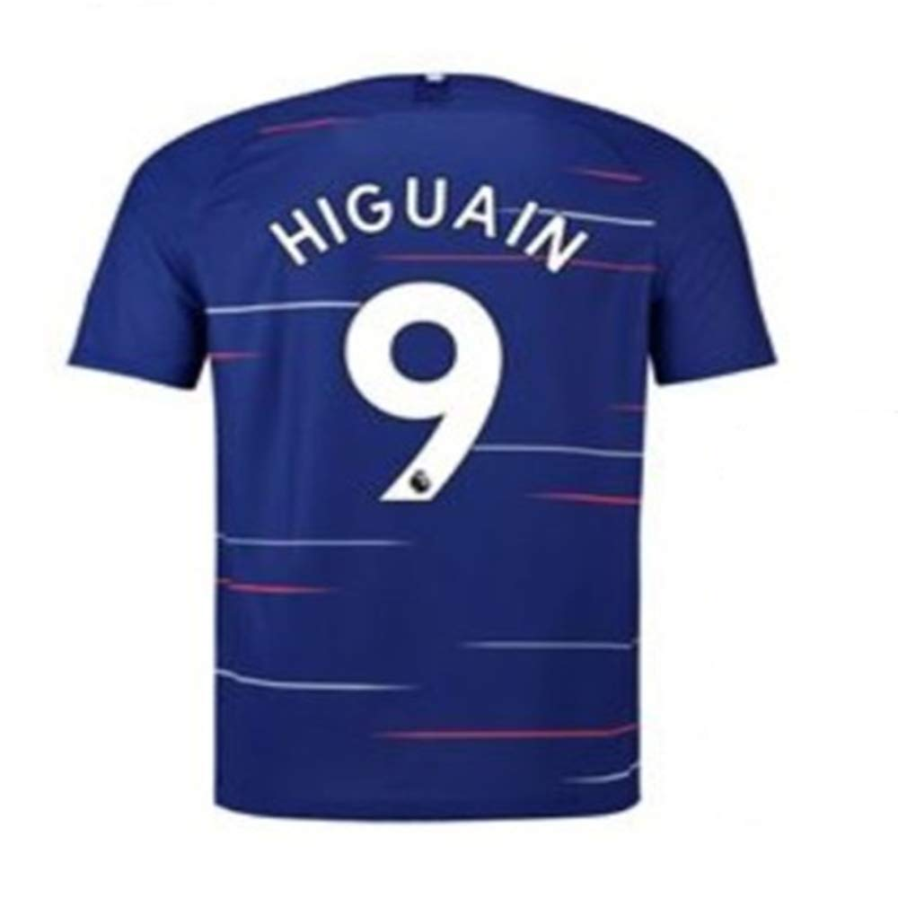 S-XL TOPSHRANGE Higua/ín #9 Chelsea Home 2018//2019 Mens Jersey Blue