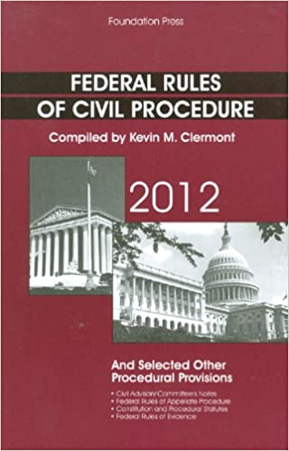 Federal Rules of Civil Procedure and Selected Other Procedural Provisions, 2012