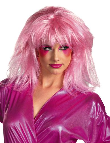 Costumes Wigs Online (Disguise Jem and The Holograms Adult Costume Wig, Pink, One Size Adult)