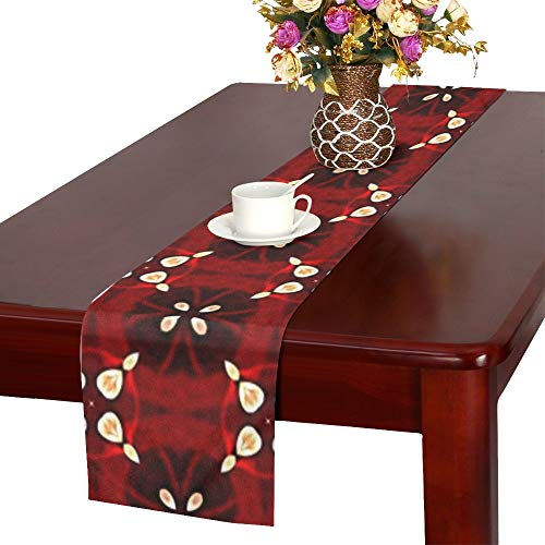 - Jnseff Scrapbooking Paper Table Runner, Kitchen Dining Table Runner 16 X 72 Inch For Dinner Parties, Events, Decor