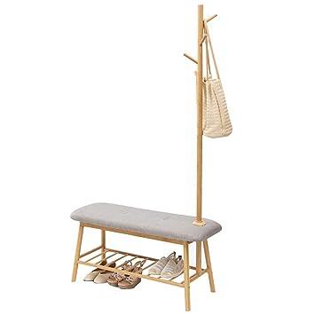 LF Coat rack Perchero de bambú, 4 Perchas Perchero ...