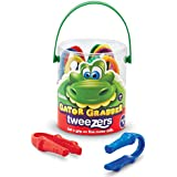 Learning Resources Gator Grabber Tweezers, Various Colors, Set of 12