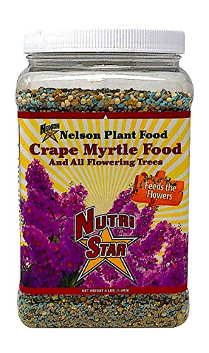 Crape Myrtle & All Flowering Trees Desert Willow Mimosa Orchid Tree Indoor Outdoor Container Grown Granular Fertilizer NutriStar (4 LB)