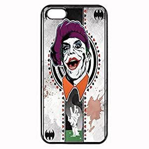 Joker card Unique Custom Image Case iphone 5 case , iphone 5S case, Diy Durable Hard Case Cover for iPhone 5 5S , High Quality Plastic Case By Argelis-sky, Black Case New