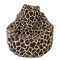 Gold medal Tear Drop Safari Micro-Fiber Suede Bean Bag, Large, Zebra