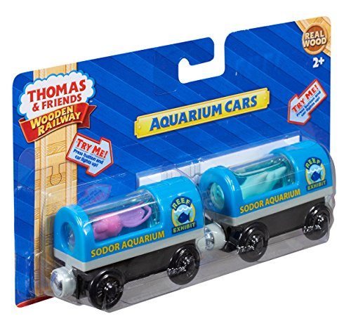 Fisher-Price Thomas & Friends Wooden Railway, Aquarium Cars - Battery Operated