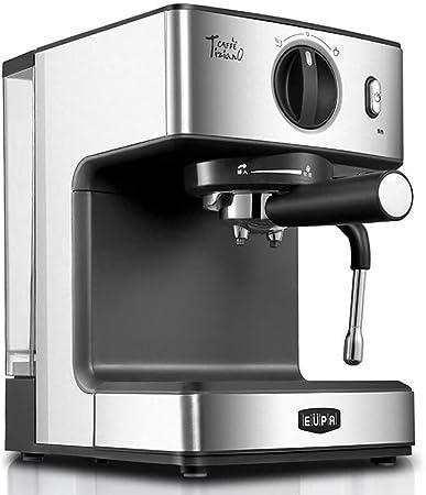 Cafetera Espresso Cafetera de 15 Bares Depósito de Agua Filtro de Acero Inoxidable Desmontable Cafeteras semiautomáticas de Capuchino con un Solo botón y vaporizador de Leche: Amazon.es: Hogar