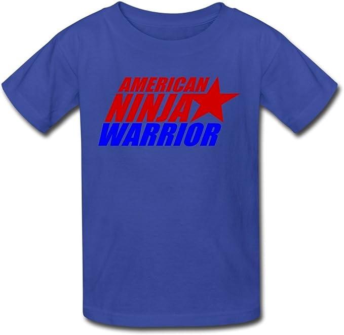 Amazon.com: Kids Cool American Ninja Warrior Logo T-Shirts ...