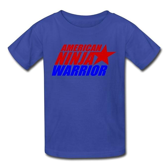 Kids Cool American Ninja Warrior Logo T-Shirts by Mjensen