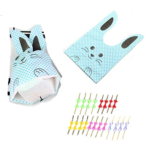 20Pcs of Children's Birthday, Halloween Candy, Gift Wrapping, Cute Rabbit Plastic Bag for Gifts, Candy, Small Toys, Chocolate, Ornaments, Hair Clips, Food, Biscuits -