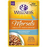 Wellness Healthy Indulgence Natural Grain Free Wet Cat Food, Morsels Turkey & Duck, 3-Ounce Pouch (Pack Of 24) Review