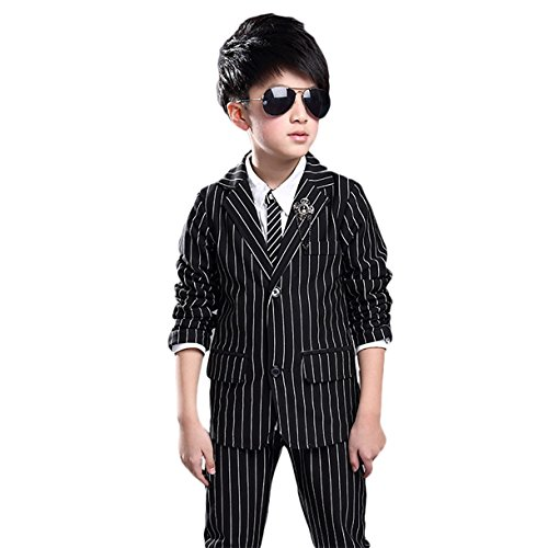 Lined Pinstripe Suit - 8