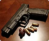 Alfombrilla de mouse con munición pistola armas de fuego en forma de pistola arma balas