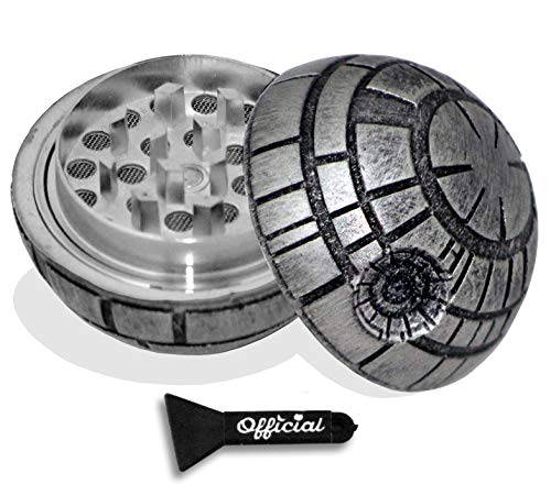 - Official Death Star Herb Grinder - Star Wars Grinder With BONUS Scraper - Star Wars Gifts - Herb & Spice Tool With Catcher - 3 Part Grinder, 2.2 Inches by Nestpark