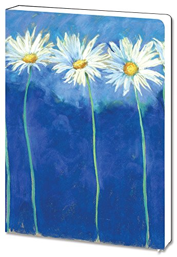 (Daises on Blue Soft Cover Floral Journal Notebook (5.5 x 7.5