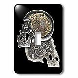 3dRose LLC 3dRose LLC lsp_102675_1 Steampunk Gothic Faux Metal Skull Image - Single Toggle Switch