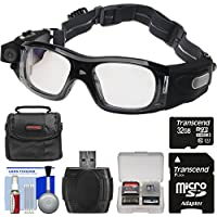 Coleman VisionHD G5HD-SPORT 1080p HD Action Video Camera Camcorder Waterproof POV Sports Safety Goggles with 32GB Card + Case + Reader + Kit