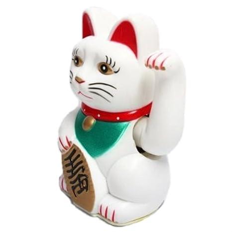 HAAC Maneki Neko - Gato de la suerte (con brazo móvil, 16 cm)