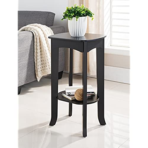 Bon Kings Brand Espresso Finish Wood Plant Stand Accent Side End Table