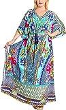 Product review for La Leela Women's Plus Size HD Designer Drawstring Caftan Dress Fits L-4X
